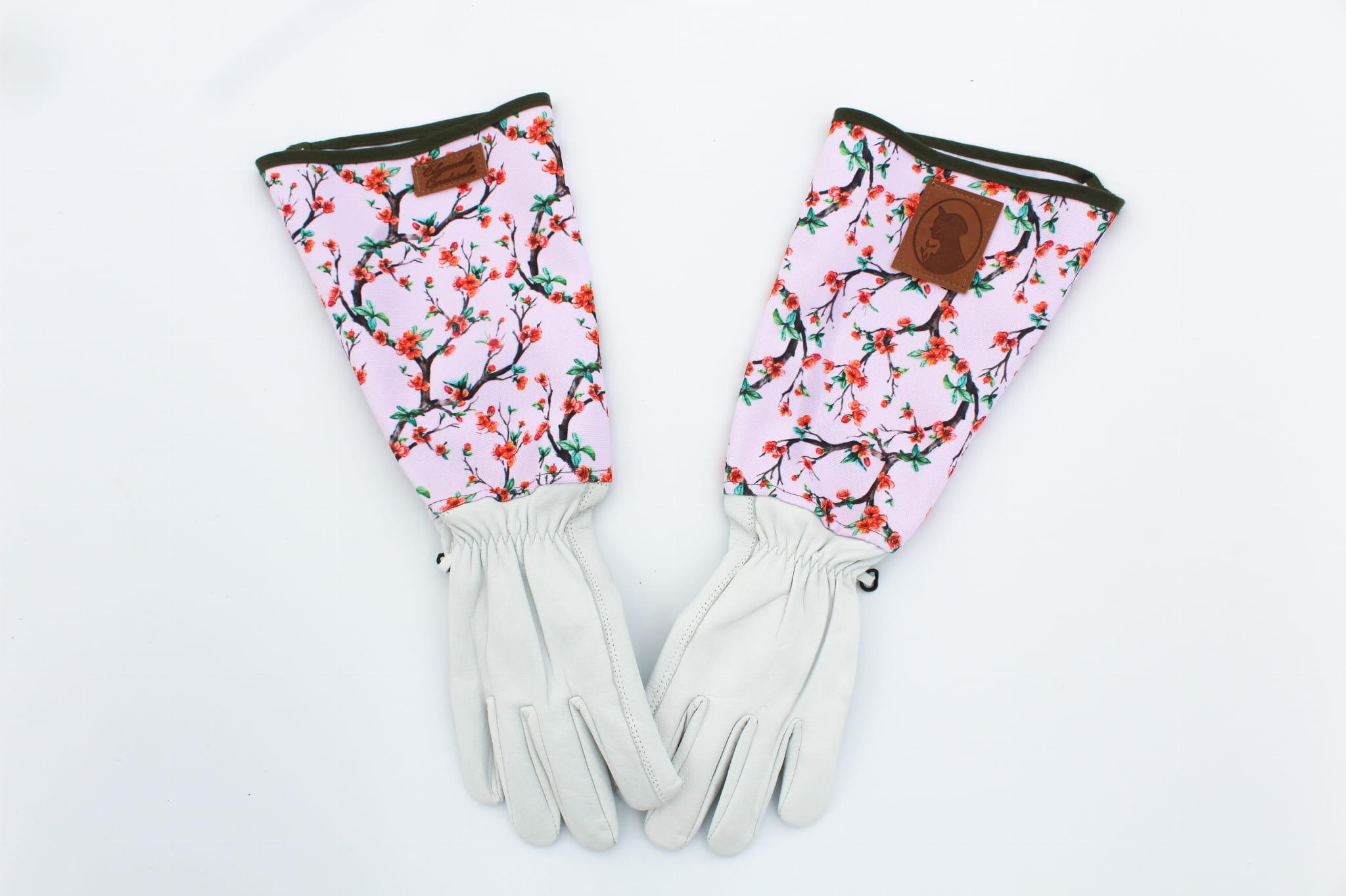 Rękawiczki długie do róż Pigwowiec